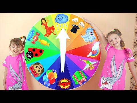 Colorful Spin Wheel Challenge - Kids Toys Spinning Wheel Game