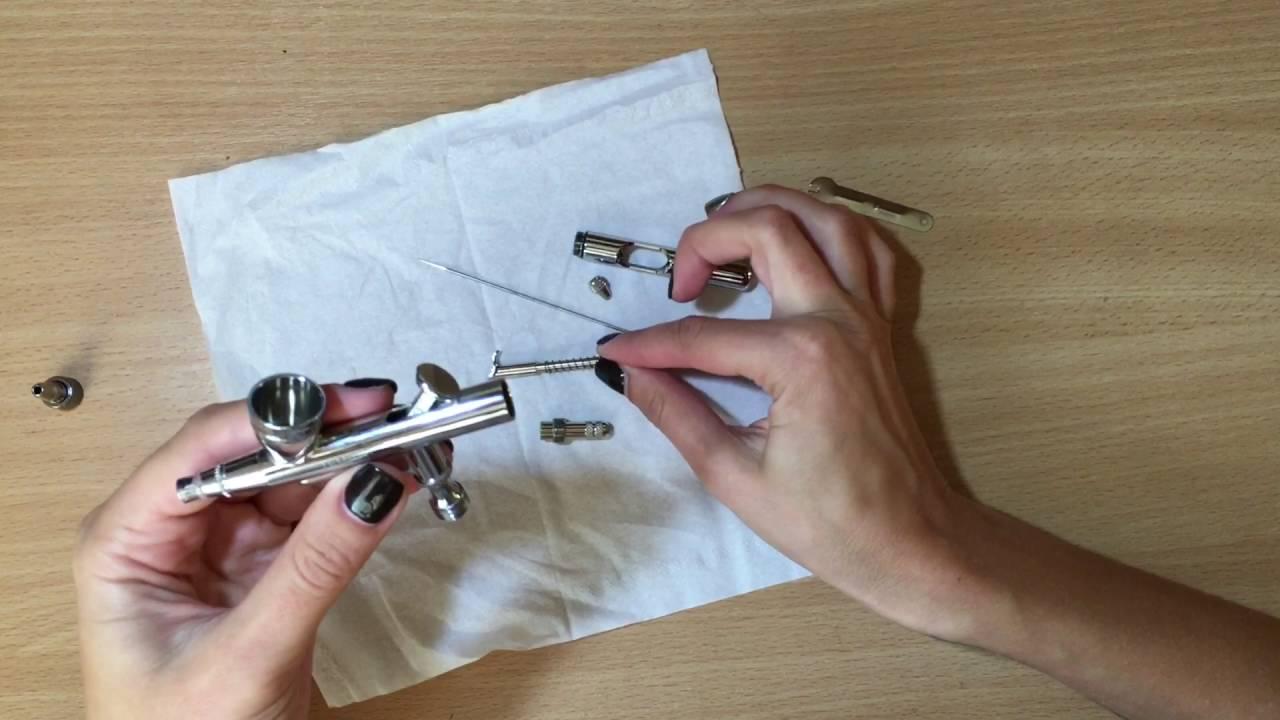 Дизайн ногтей омбре с использованием аэрографа - YouTube