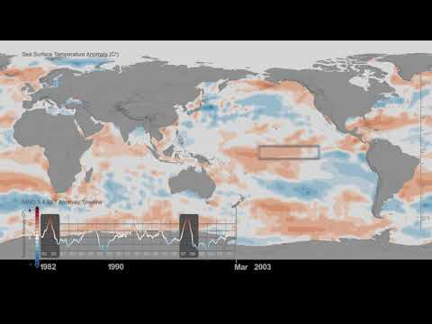 Sea Surface Temperature Anomaly Timeline: 1982-2017