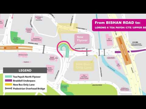 Travel Route from Bishan Road to Lor 6 Toa Payoh