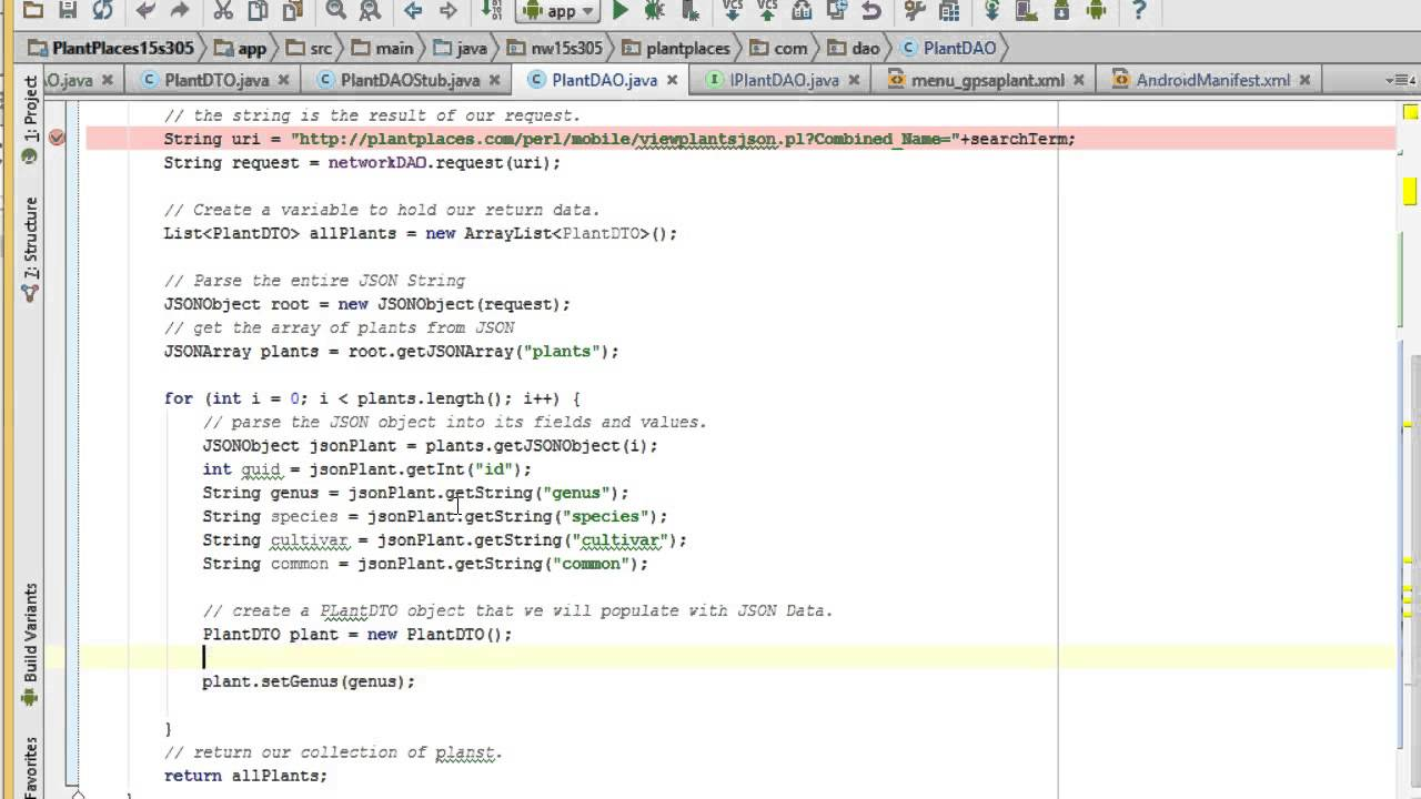 Parsing JSON in Android Studio