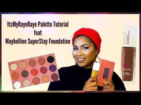 ItsMyRayeRaye Palette Tutorial feat Maybelline SuperStay | Sheri Approved
