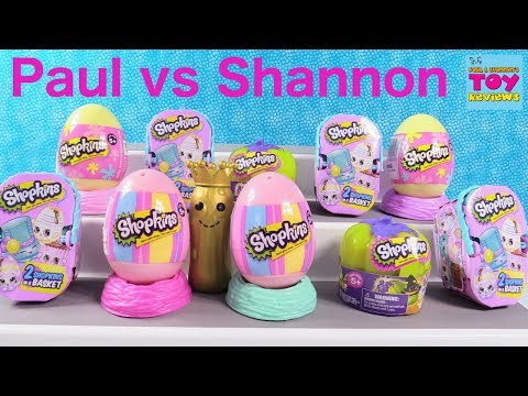 Paul vs Shannon Shopkins 2 Pack Challenge Blind Bag Toy Review | PSToyReviews