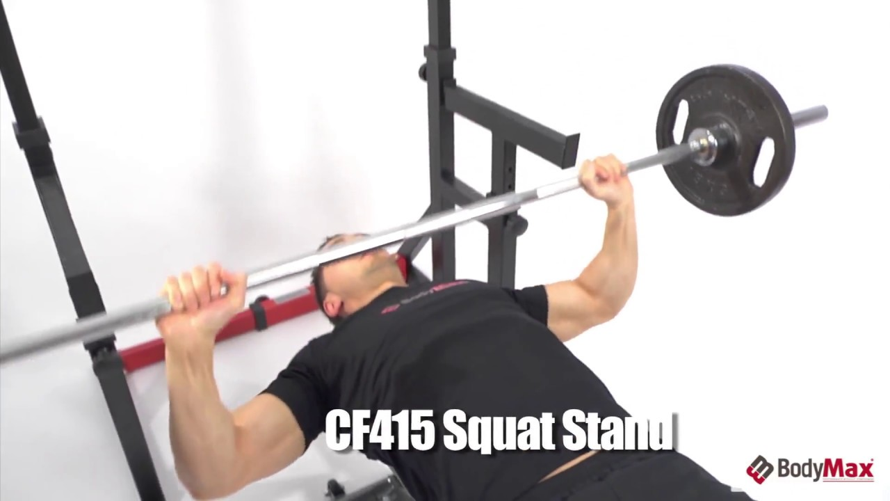 Bodymax Cf415 Squat And Dip Rack With Spotter Catchers Fitnessinn Youtube