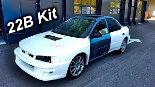 Test Fitting the 22B Widebody Kit- Subaru GC8