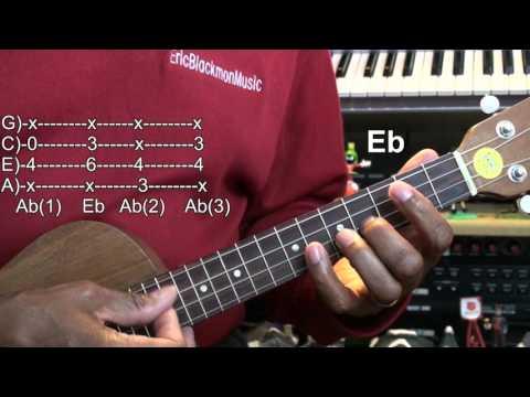Charlie Brown Christmas Ukulele Chord TABS Tutorial Peanuts Lesson EricBlackmonMusicHD