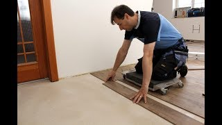 Výměna korkové podlahy za Hydrocork, celková rekonstrukce podlah.