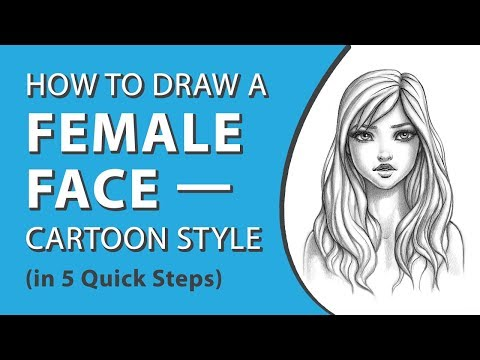 How to Draw a Female Face—Cartoon Style (in 5 Quick Steps) thumbnail