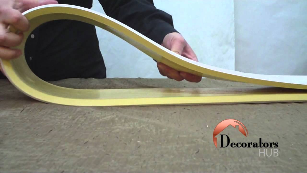 Aa090 Flexible Crown Moulding Youtube