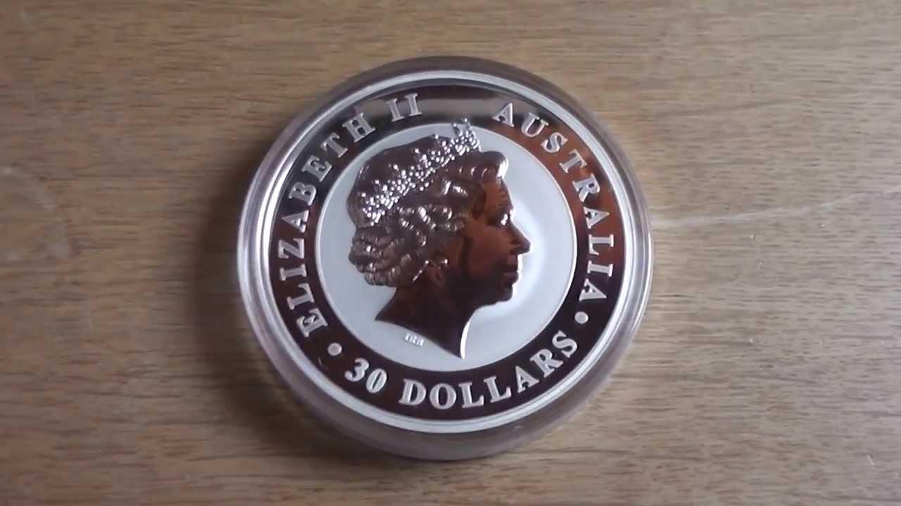 Australia 30 Dollars 1 Kg Silver Coin With Elizabeth Ii