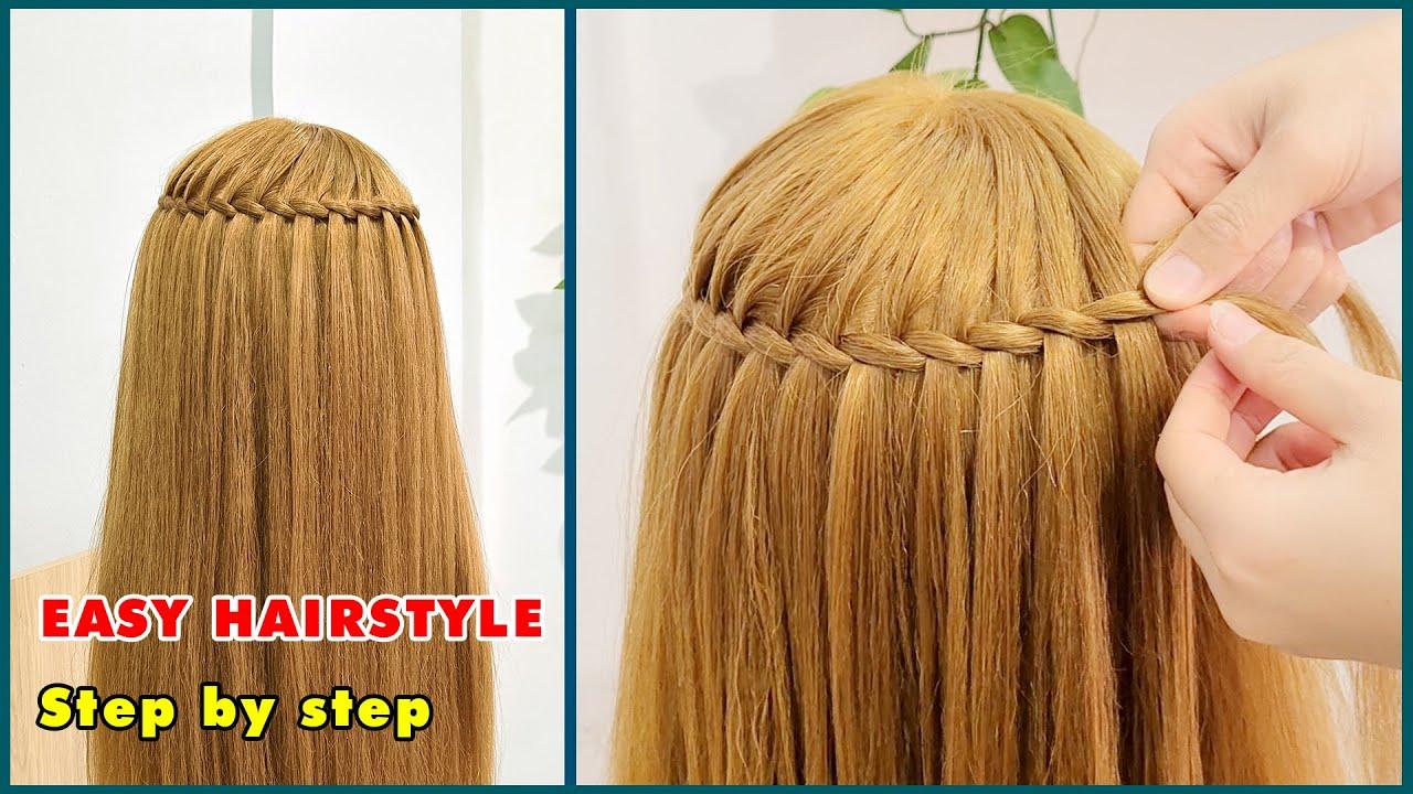 28 Cách Tết Tóc Đơn Giản Tuyệt Đẹp Đi Học Đi Chơi | Các kiểu tóc đẹp cho bạn gái | Tóc thác nước