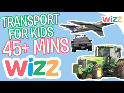 Airplanes, Tractors, Trains and Buses | Transport Videos for Kids | 45 minutes of Vehicle Fun