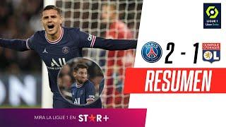 ¡MESSI SALIÓ, ICARDI ENTRÓ Y LE DIO EL TRIUNFO AL PSG SOBRE LA HORA!   PSG 2-1 Lyon   RESUMEN