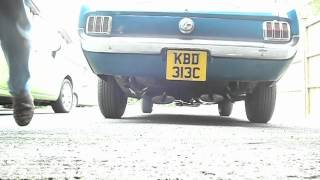 1965 Mustang 200ci straight six with twin exhausts