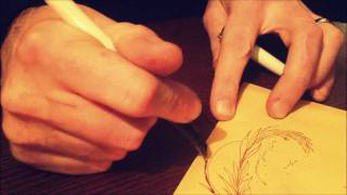 Drawing and creating a personalised envelope (mail art) by Carne Griffiths