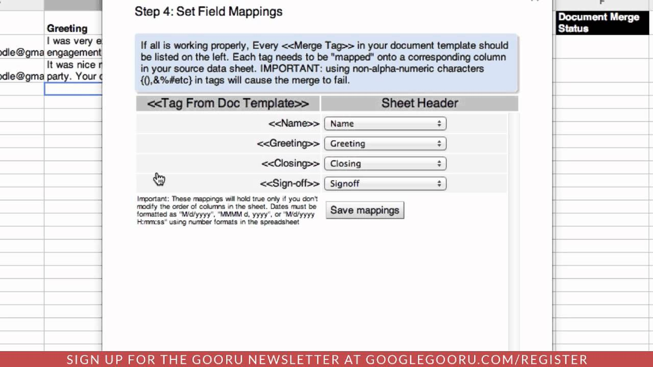 Create And Send A Merged Newsletter Using Google Docs Spreadsheets - How to make a newsletter in google docs