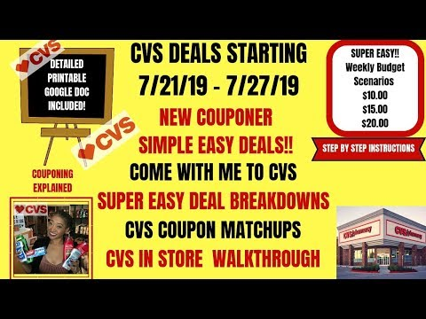 SUPER EASY NEW COUPONER CVS DEALS STARTING 7/21/19~COUPON MATCHUPS DEAL BREAKDOWNS~COME WITH ME EASY