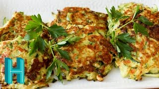 How To Make Zucchini Pancakes | Hilah Cooking