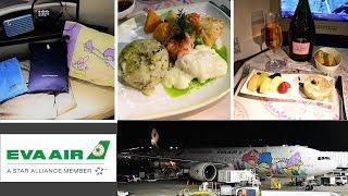 EVA Air Hello Kitty 777 Business Class Taipei to Chicago