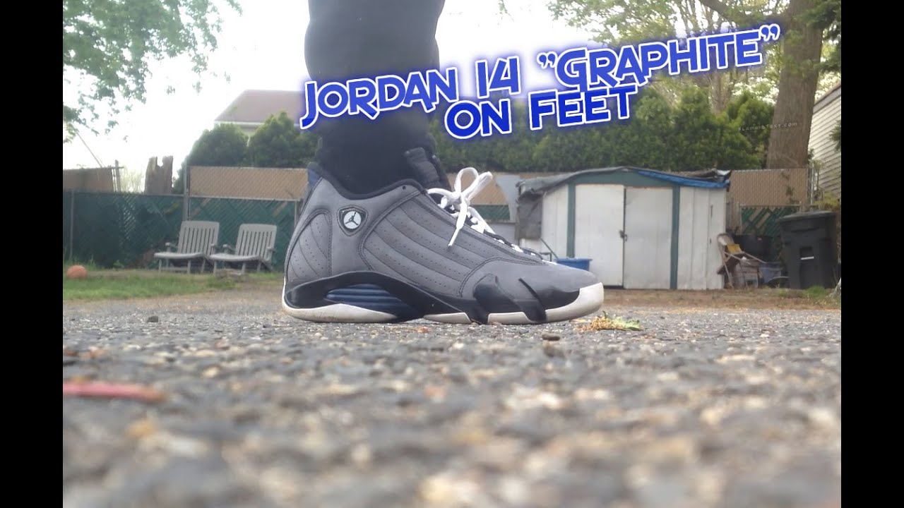 Air Jordan 14 Graphite On Feet - YouTube