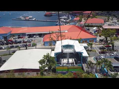 Skyride to Paradise Point (Charlotte Amalie St Thomas Cable Car)