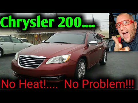 2012 Chrysler 200 no heat passenger side how to flush heater core