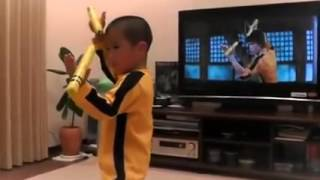 The Strongest Kid In The World As Bruce Lee