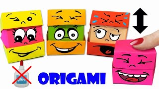 ОРИГАМИ КОРОБОЧКА МЕНЯЕТ ЛИЦО - БЕЗ КЛЕЯ! ORIGAMI BOX CHANGES FACE - Emoji I Paper Crafts