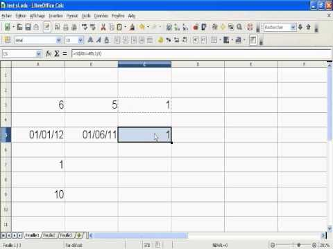 Openoffice libreoffice calc la fonction si en fran ais apprendrecalc youtube - Open office 4 en francais ...