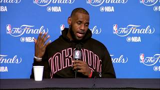 LeBron James FULL Interview Before Game 4   Media Day Availability