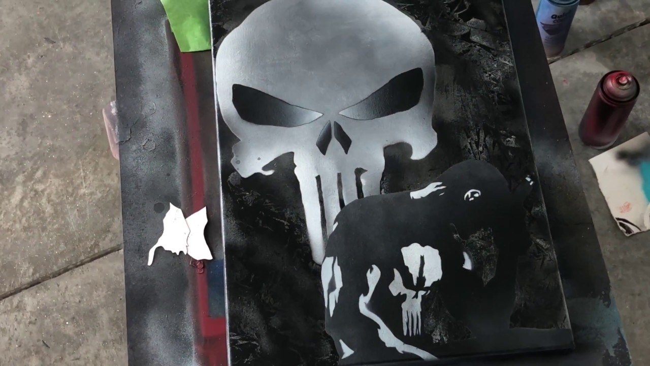 Spray Paint Punisher Skull