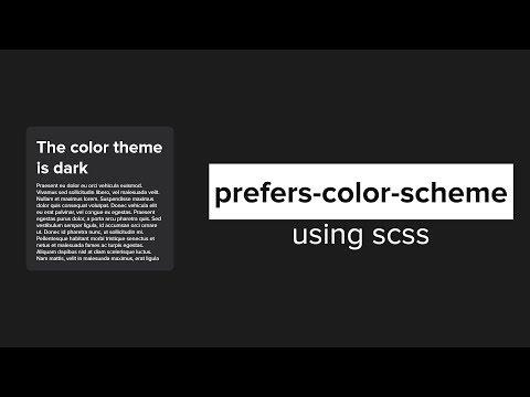 Prefers-color-scheme Using Scss   Dark And Light Mode