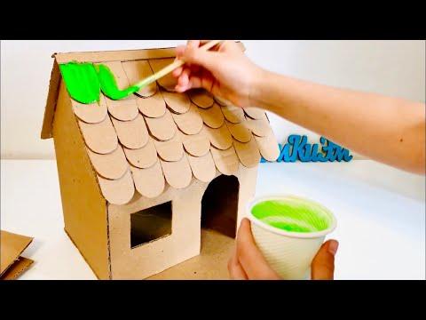 Поделка домик из картона своими руками для детей поделка