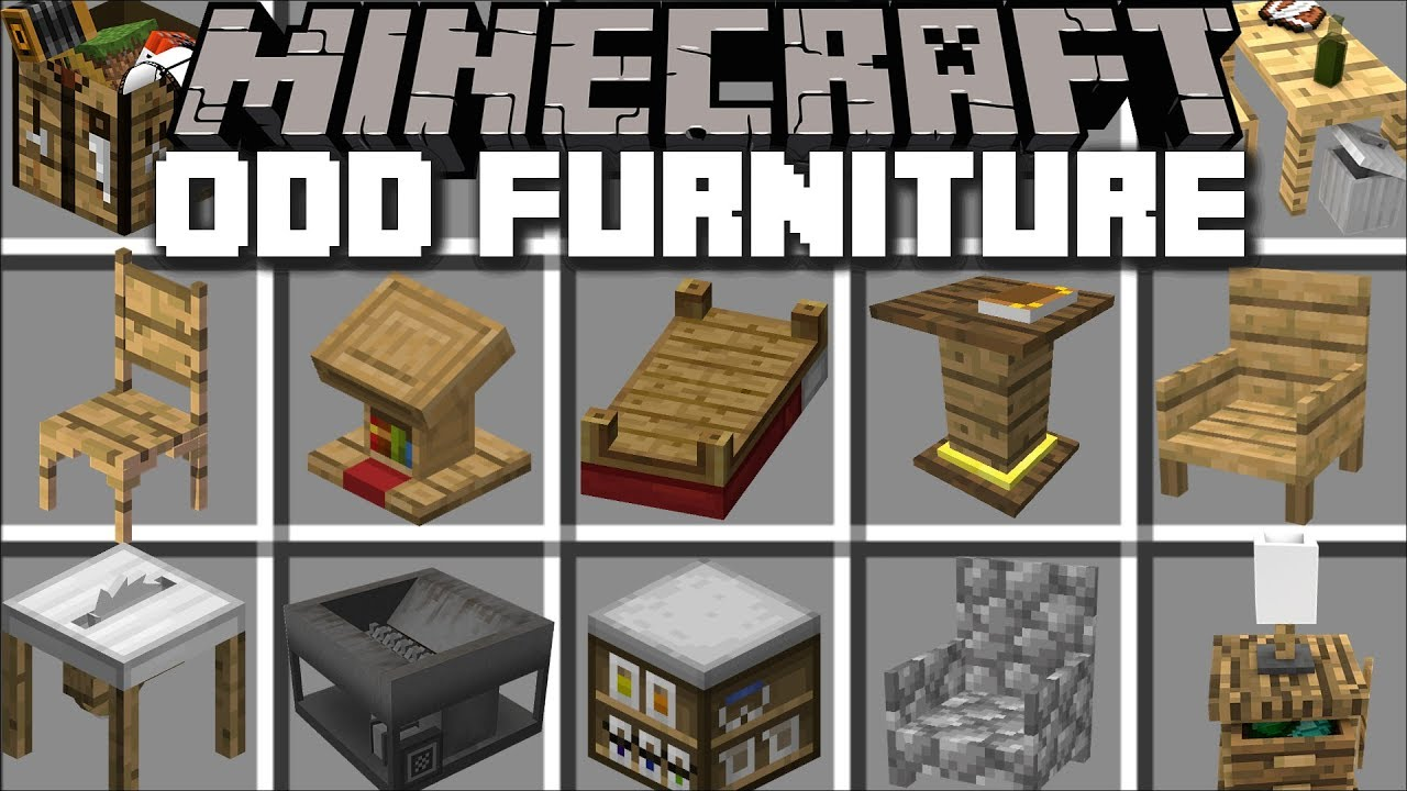 Minecraft Odd Furniture Mod Place Off Furniture Around Your House Minecraft