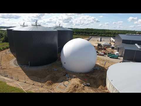 Nature Energy - bygger Danmarks største økologiske biogasanlæg i Brande - august 2017