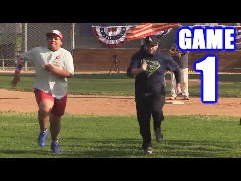 BOBBY RACES CAPTAIN AMERICA ON  DAY!  OnSeason Softball League  Game 1