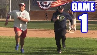 BOBBY RACES CAPTAIN AMERICA ON OPENING DAY! | On-Season Softball League | Game 1 thumbnail