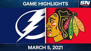 NHL Game Highlights | Lightning vs. Blackhawks - Mar. 5, 2021