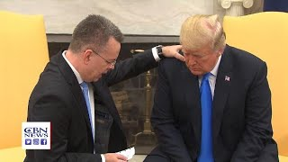 Pastor Brunson Prays for President Trump in the Oval Office