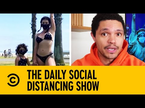 New Trikini Beachwear Incorporates Face Masks | The Daily Show With Trevor Noah