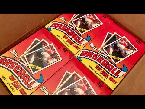 OPENING UP A BRAND NEW 1988 TOPPS BOX FROM A CASE (Throwback Thursday)