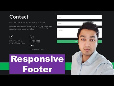 How To Create A Responsive Footer Using HTML And CSS Only