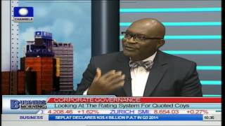 Business Morning: Corporate Governance, Rating System for Quoted Coy PT1