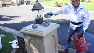 Easy Home Repairs To Loose Stucco On Mailbox Or Lamppost