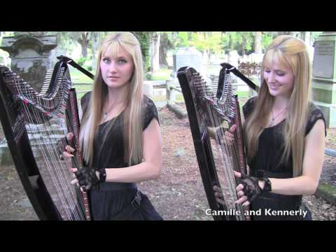 PAINT IT BLACK (The ROLLING STONES) Harp Twins - Camille and Kennerly HARP ROCK