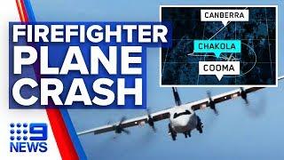 NSW Bushfires: Three killed when fire-fighting plane crashes | Nine News Australia