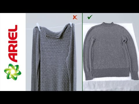 How to Dry Your Wool Garments - Ariel
