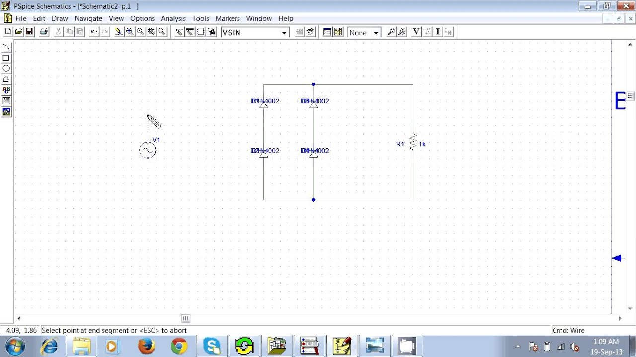 How To Make A Full Wave Rectifier With Pspice Schematics Youtube Circuit Diagram In Addition Diode Bridge