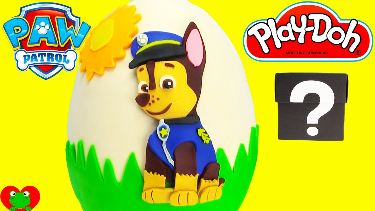 Paw Patrol Chase Play Doh Surprise Egg LEARN BIG and SMALL