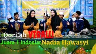 Nadia Hawasyi Qori'ah cantik juara terbaik Indosiar, Ft ibunda tercinta Hj.muqoyah
